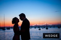 Rickie De Sole and Derek Webster celebrate their wedding vows at The New York Yacht Club in Newport, RI